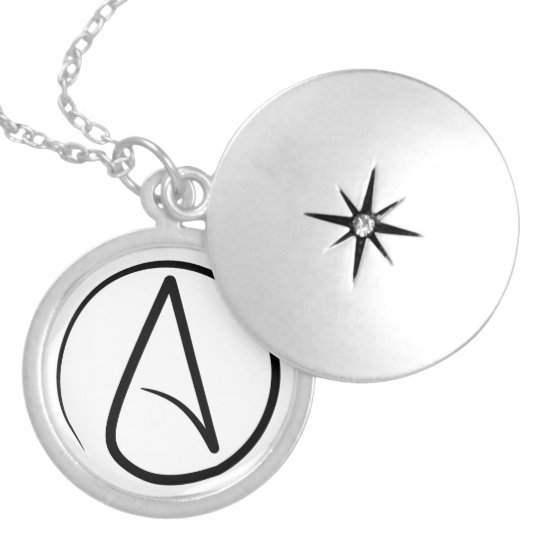 Slim Atheist Symbol Locket Zazzle