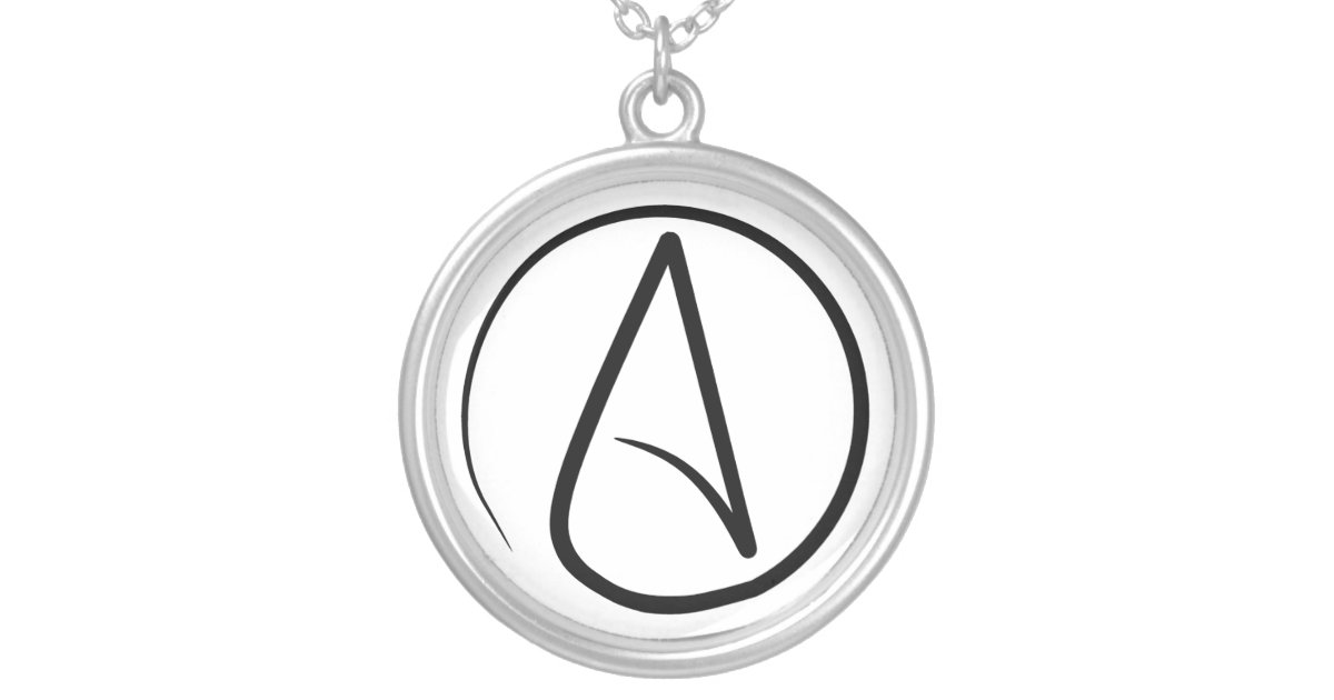 Slim Atheist Symbol Necklace Zazzle