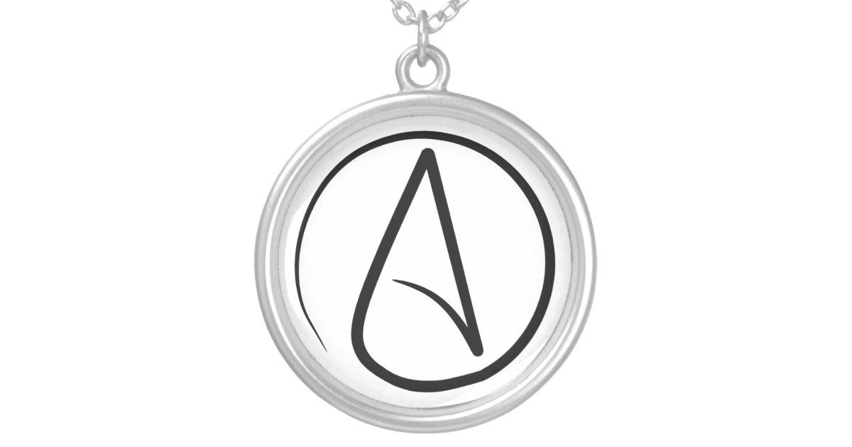 Slim atheist symbol necklace zazzle aloadofball Choice Image