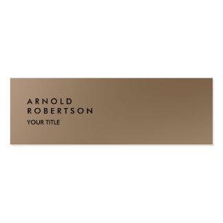 Slim Browny Trendy Professional Business Card Skinny Business Cards