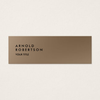 Slim Browny Trendy Professional Business Card