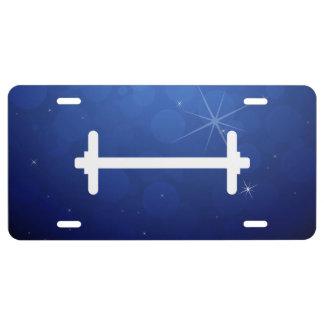 Slim Dumbbells Pictograph License Plate