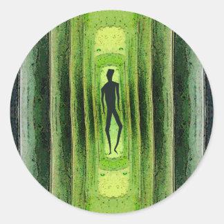 Slim Green Walker Classic Round Sticker