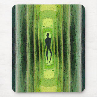 Slim Green Walker Mouse Pad