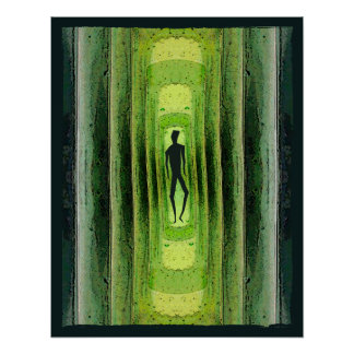 Slim Green Walker Poster