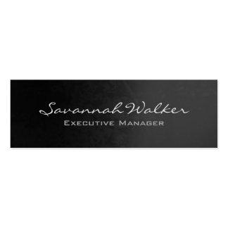 Slim Grey Handwriting Professional Modern Trendy Mini Business Card