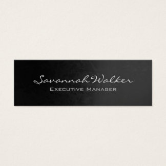 Slim Grey Handwriting Professional Modern Trendy Mini Business Card