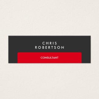 Slim Professional Grey Red Stripe Business Card