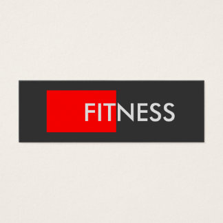 Slim Red Gray Fitness Trainer Business Card