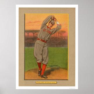 Slim Sallee Cardinals Baseball 1911 Poster
