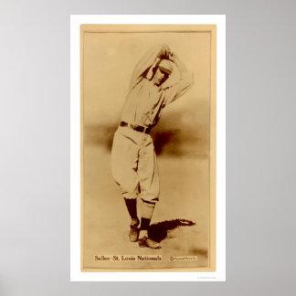 Slim Sallee Cardinals Baseball 1914 Poster
