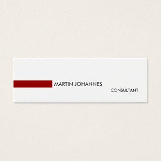 Slim Skinny Stylish Red Black White Business Card