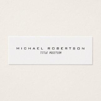Slim Trendy Modern Minimalist Business Card