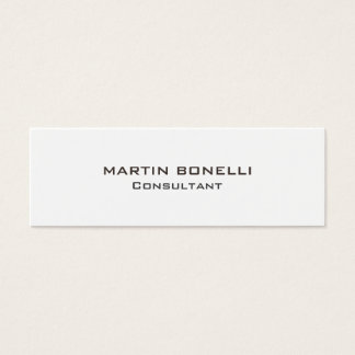 Slim Trendy Plain Clean Simple Mini Business Card