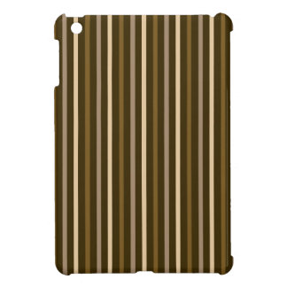 Slim Vertical Stripes Cream & Browns iPad Mini Case