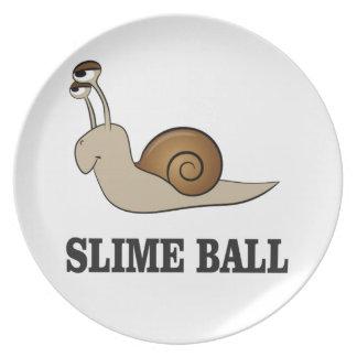 slime ball snail melamine plate