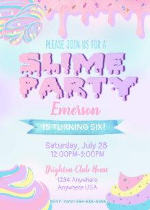Slime invitations zazzle slime birthday party invitations dripping invite filmwisefo