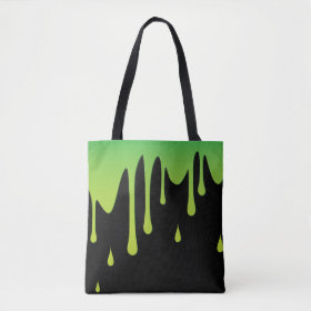 Slime dripping tote bag