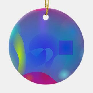 Slime Joy Double-Sided Ceramic Round Christmas Ornament