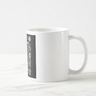 Slime Molds in Black and White Coffee Mug