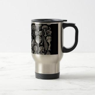 Slime Molds in Black and White Travel Mug