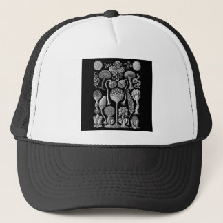 Slime Molds in Black and White Trucker Hat