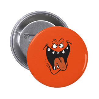 SLIME MONSTER FACE COSTUME 2 INCH ROUND BUTTON
