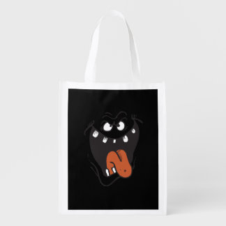 SLIME MONSTER FACE COSTUME REUSABLE GROCERY BAGS