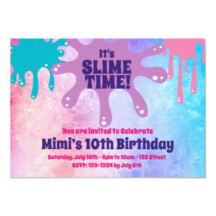 10th birthday invitations zazzle slime party birthday party invite filmwisefo