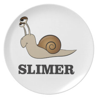 slimer the snail melamine plate