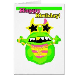 Slimey Birthday Wishes Card