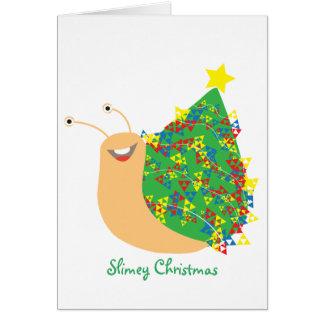 Slimey Christmas Card