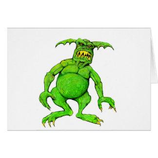 Slimey Green Monster Card