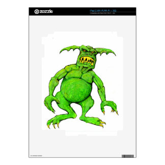 Slimey Green Monster Decals For The iPad 2