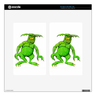 Slimey Green Monster Kindle Fire Decal