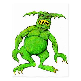 Slimey Green Monster Postcard