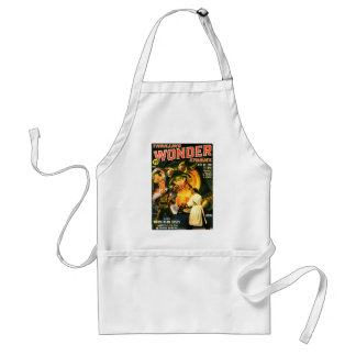 Slimey Monster with a Beard Adult Apron