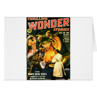 Slimey Monster with a Beard Card