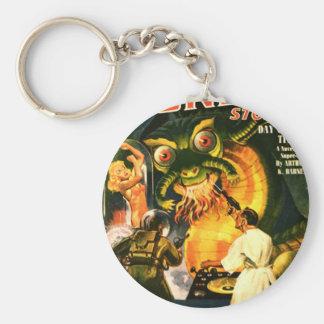 Slimey Monster with a Beard Keychain