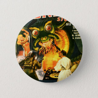 Slimey Monster with a Beard Pinback Button