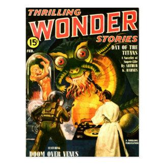 Slimey Monster with a Beard Postcard