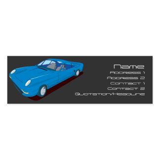 Slimline Concept Car Design Mini Business Card