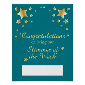 Slimmer of the Week Slimming Club Weight Loss Poster