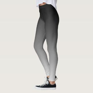 Slimming Black and White Gradient Horizon Leggings