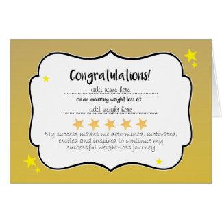 Slimming Club Gold Star Weightloss Certificate Card