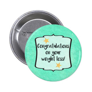 Slimming Group Club Leader Weightloss Award Pinback Button