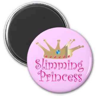 Slimming Princess 2 Inch Round Magnet
