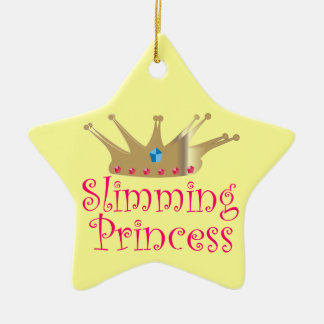 Slimming Princess Double-Sided Star Ceramic Christmas Ornament