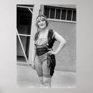 Slimming Stripes, 1920s Poster