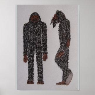 "Slimsquatch ""Homo-habilis"" Poster"